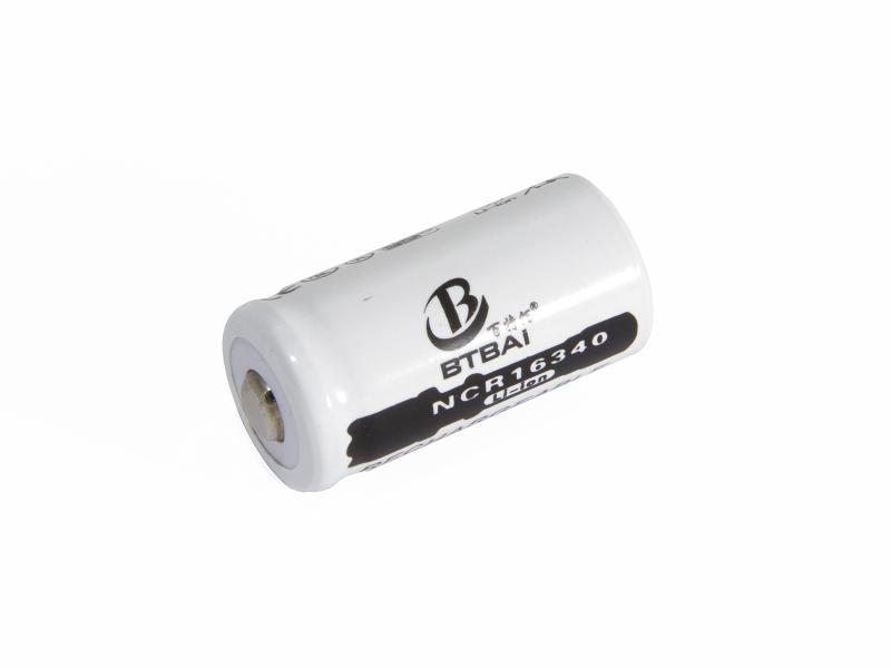16340 Laddningsbart CR123A batteri