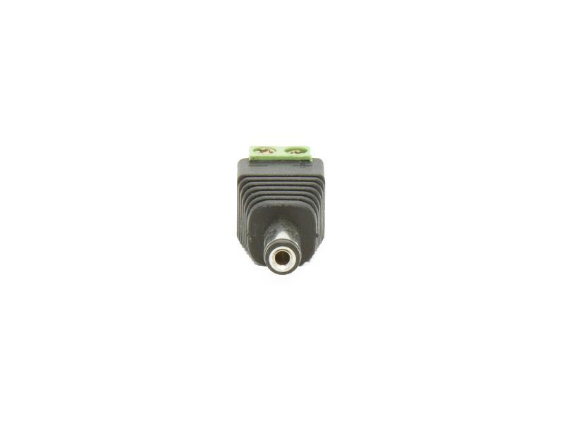 2.1mm DC plugg med skruvplint