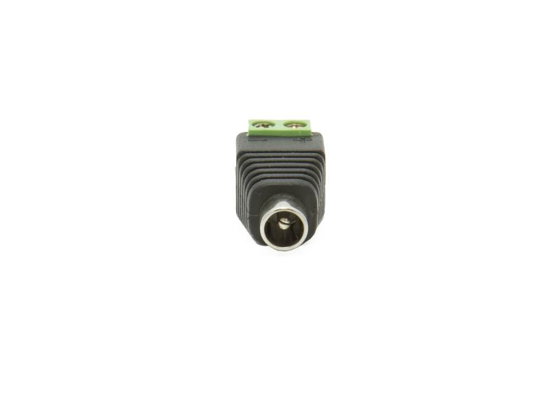 2.1mm DC sockel med skruvplint