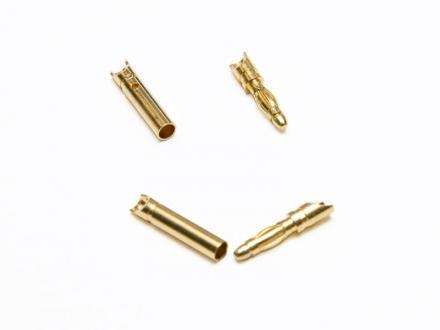 2 mm guldkontakter, 5 par