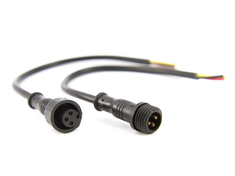 3-polig vattentät kontakt för LED-belysning