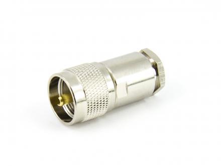 Antennkontakt PL259 UHF SO239 hane för RG8 RG213 LMR400