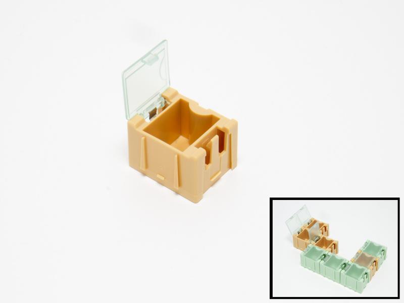 Ask med flipp-flopp-lock liten gul