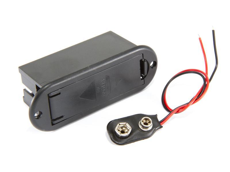 Batterihållare - 1x6LR61 (9Volt) Chassiemontage