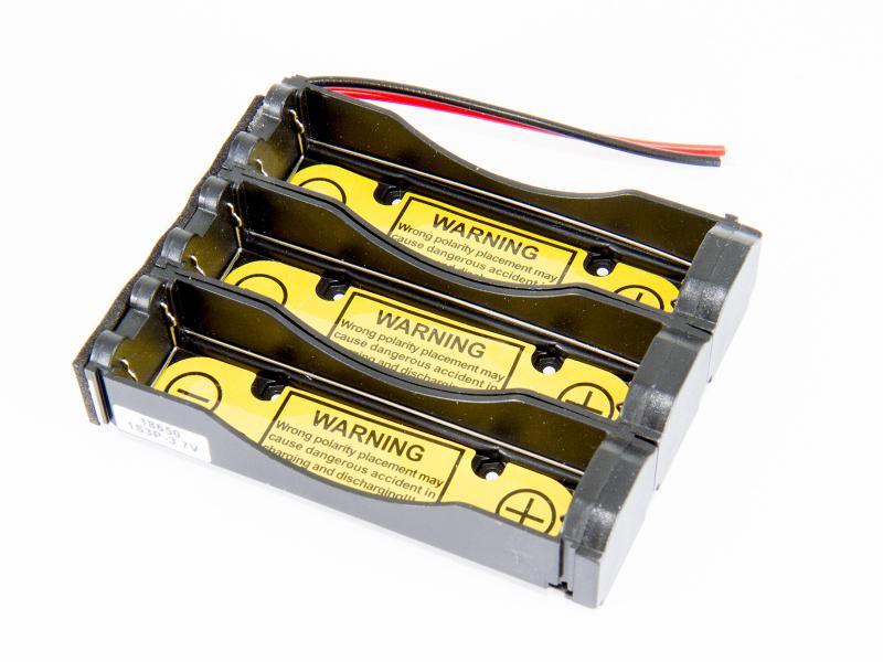Batterihållare - 3x18650 med PCB 1S3P