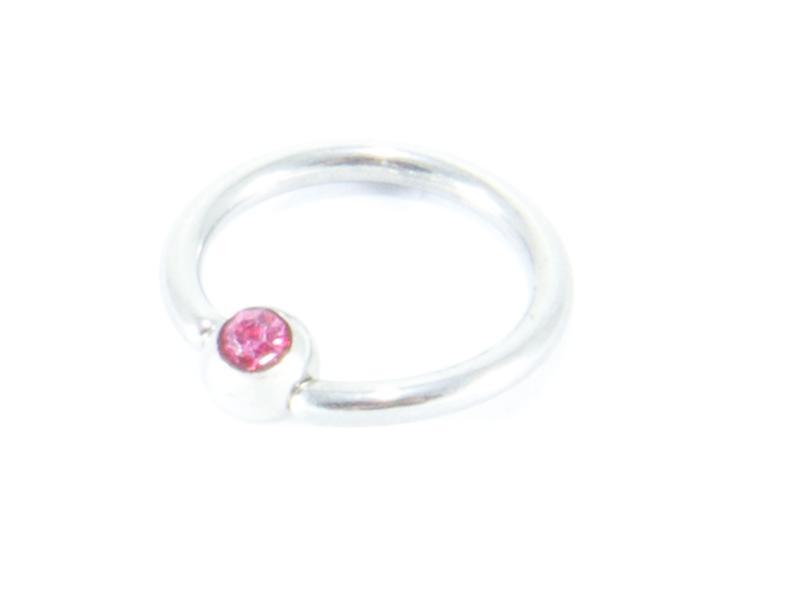Bröstpiercing CBR med rosa sten