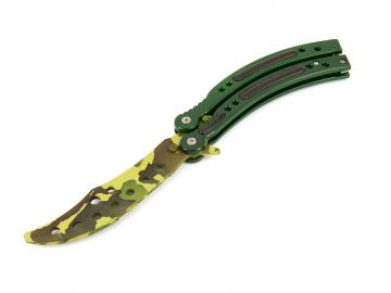 Butterfly Karambit Trainer (camo) - 24 cm