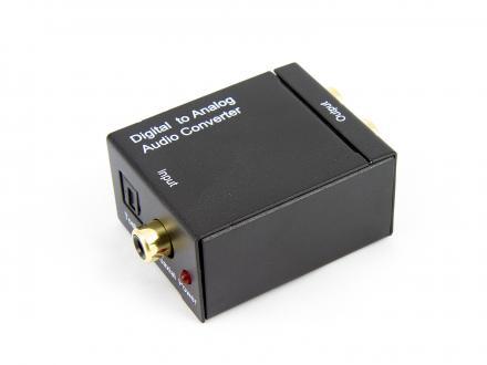 Digital till analog ljudkonverterare - Toslink till RCA