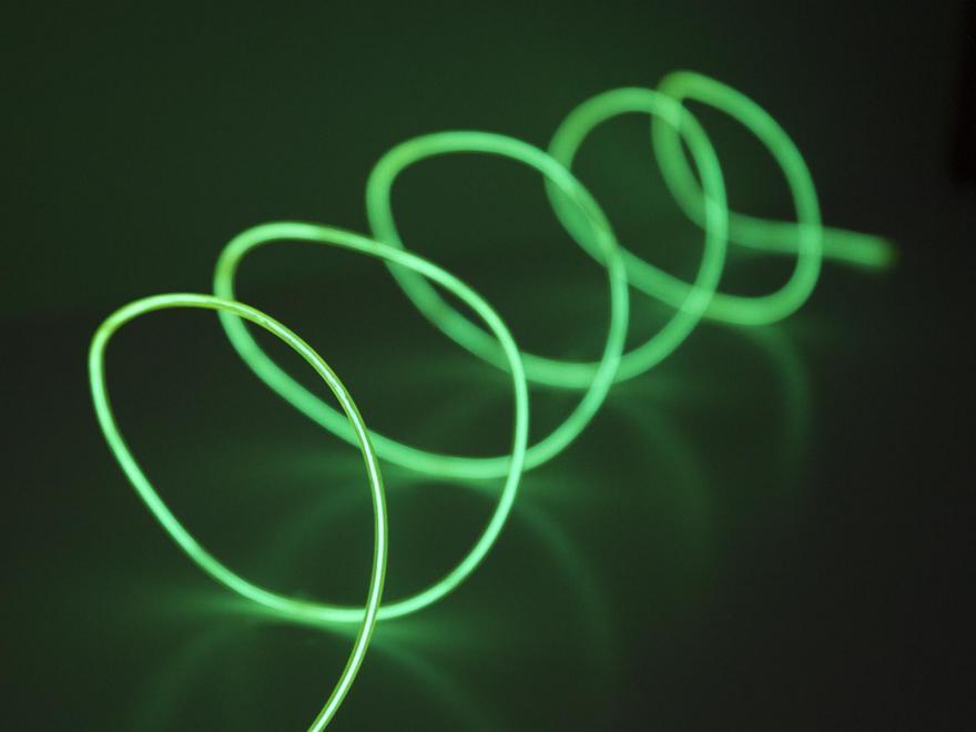 EL-ljuslina 2,3mm, 3 meter, grön