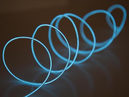 EL-ljuslina 2,3mm, 3 meter, isblå