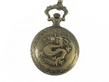 Fickur med motiv av drake - brons