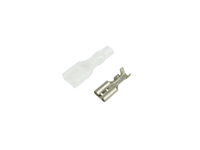 Flatstifthylsa 4,8 mm med isoleringhylsa 10-pack