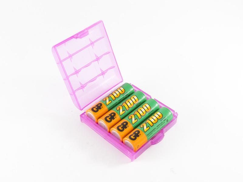 Förvaringsask för 4st AA batterier