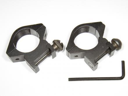 Hållare för kikarsikte 25mm, Weaver rail, 42mm hög, 2st