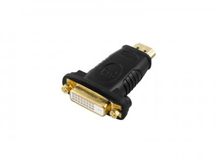 HDMI 19-pin hane till DVI-D hona adapter