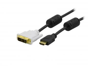 HDMI hane till DVI-D hane kabel 2m