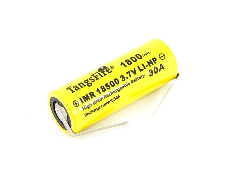 Laddningsbart Li-Ion batteri TR18500 med lödanslutning