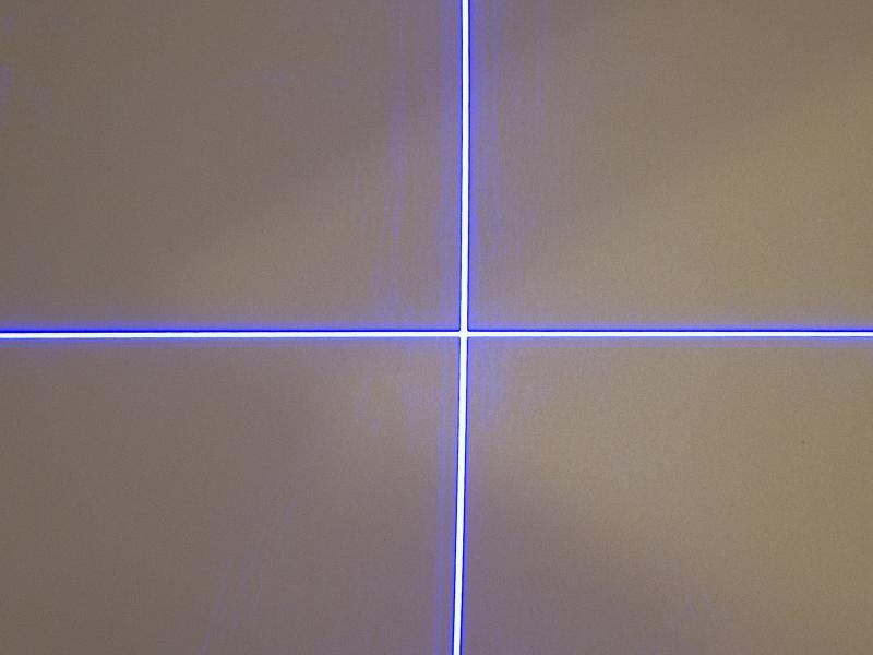 Lasermodul, lila 20mW med krysslins