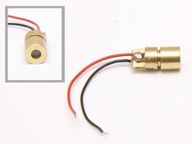 Lasermodul, röd 1 mW miniatyr