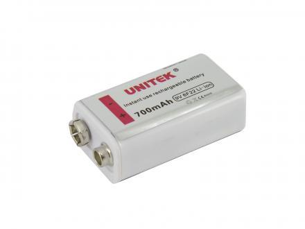 Li-Ion laddningsbart 9V batteri 700mAh