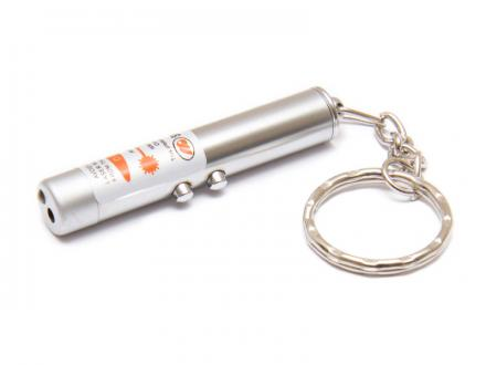 Liten laserpekare med inbyggd ficklampa