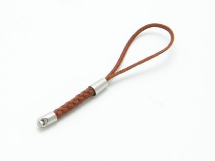 Mobilsmyckes-snodd i brun nylon