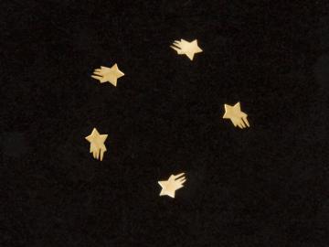 Nageldekorationer, Stjärnor guldfärgade - 10st