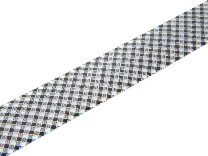 Nagelfolie - Svart- och silverrutigt