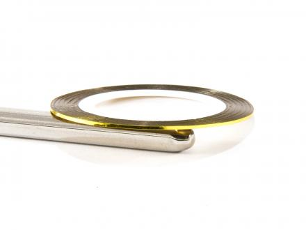 Nageltejp - Gul metallic