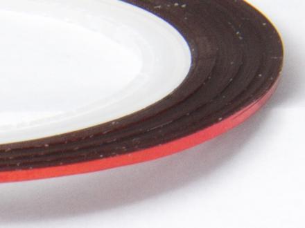 Nageltejp - Röd metallic