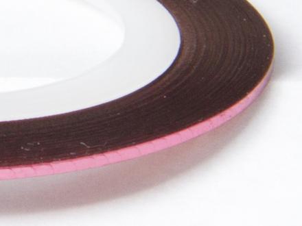 Nageltejp - Rosa metallic