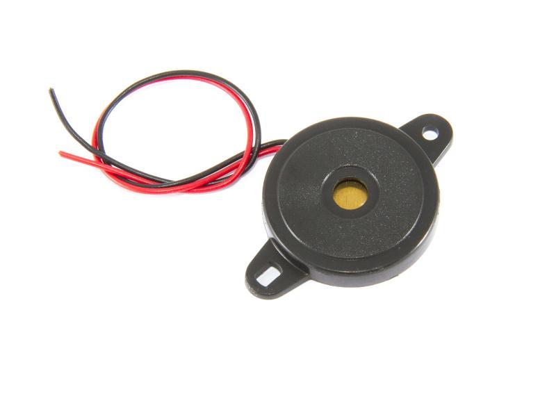 Piezoelektriskt högtalarelement i plasthölje