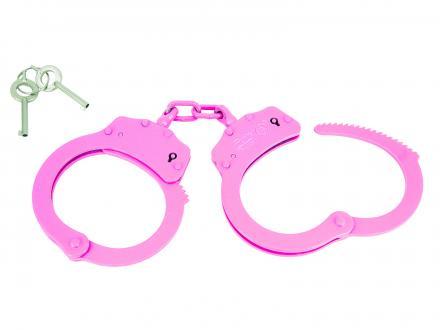 Rosa handbojor med dubbellåsning och svetsad länk