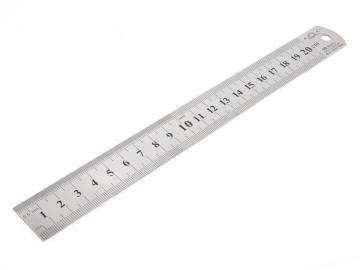 Stållinjal 20 cm