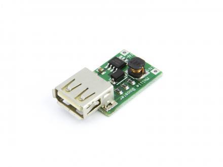 Step-up omvandlare, 1-5V till 5Volt USB, 600mA