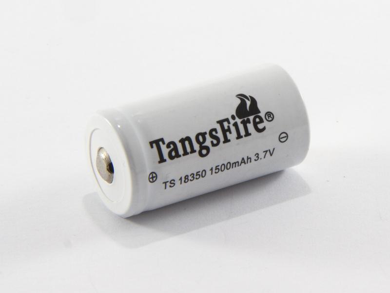 TangsFire Laddningsbart litiumbatteri 18350 3,7 volt
