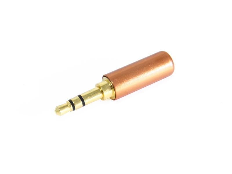 Teleplugg stereo 3,5 mm aluminium