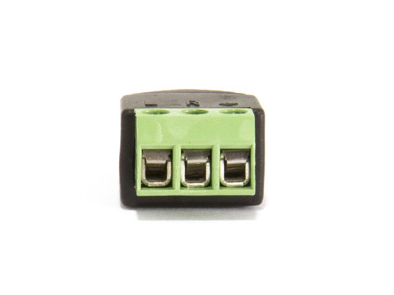 Teleplugg stereo 3,5 mm med skruvplint