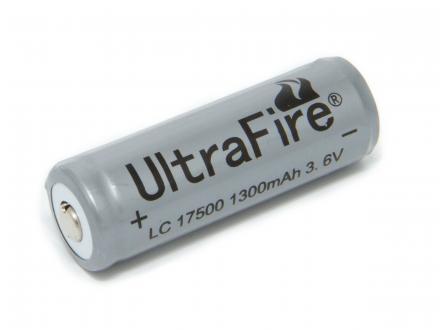 UltraFire Laddningsbart litiumbatteri 17500 3,6 volt