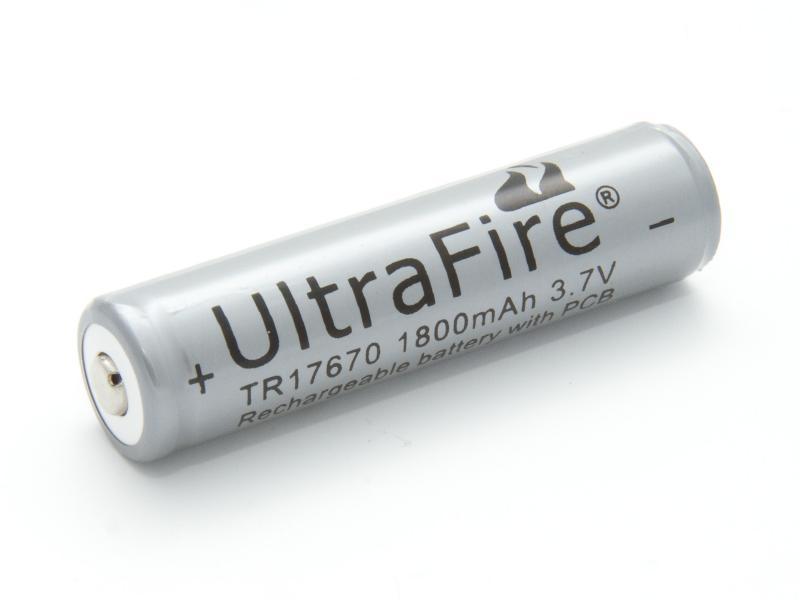 UltraFire Laddningsbart litiumbatteri TR17670 3,7 volt
