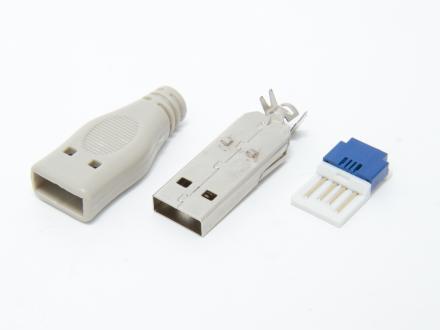 USB A hane kontaktdon för kabelmontage