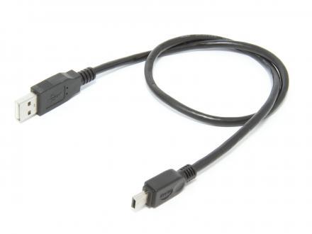 USB-kabel, Typ A hane - typ B-mini hane 0,5m