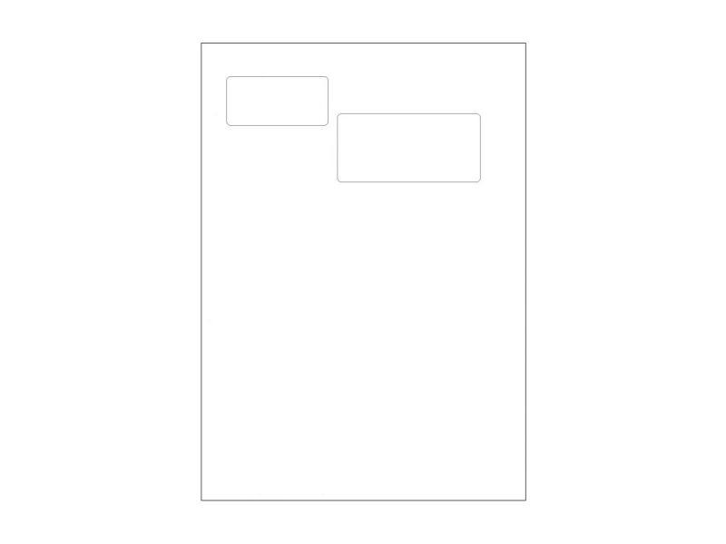 A4 skrivar-papper med peel off etikett 100-pack