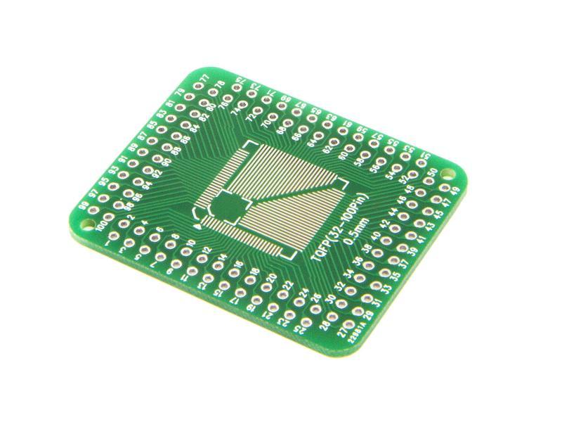 Adapterkort för ytmonterade microprocessorer 32-100 pin