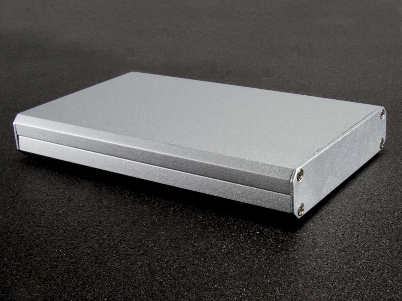 Aluminiumlåda borstad 111x67x16mm