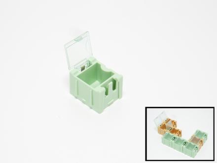 Ask med flipp-flopp-lock liten grön