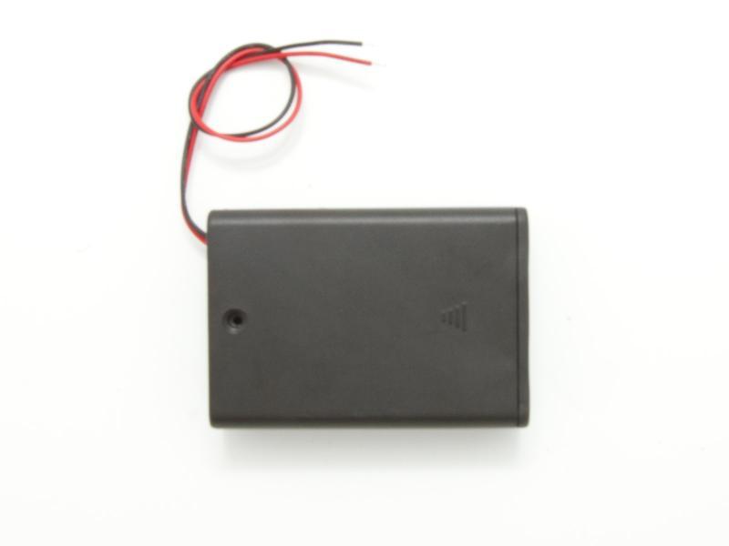 Batterihållare - 3xAA med strömbrytare