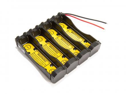 Batterihållare - 4x18650 med PCB 1S4P
