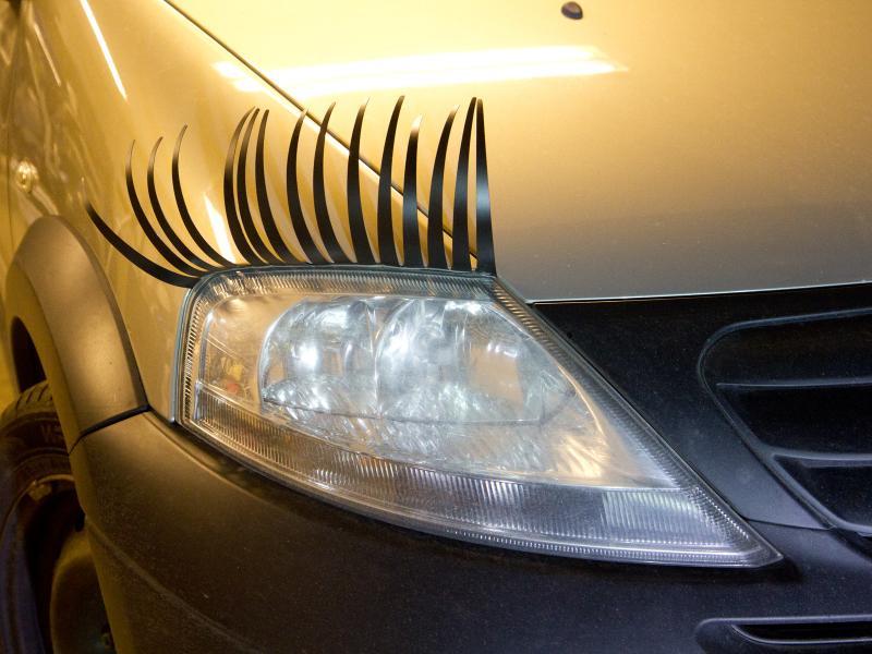 Carlashes, ögonfransar till bil