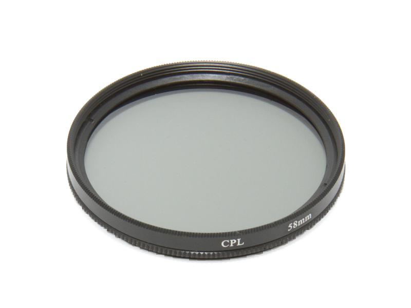 Cirkulärt polarisationsfilter 58mm